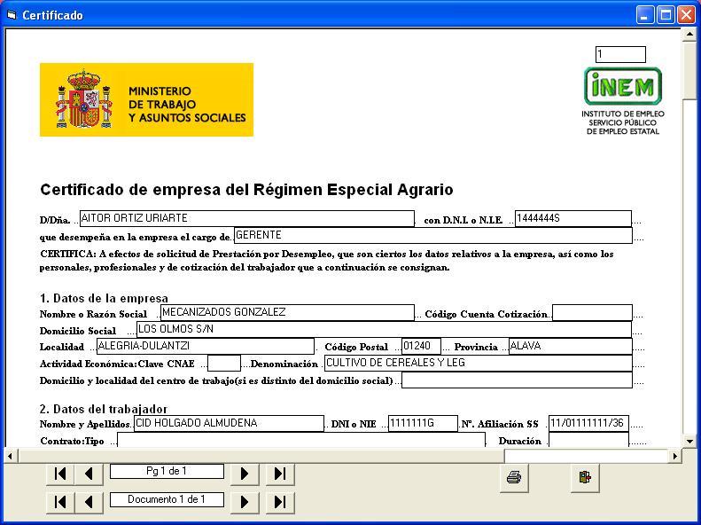 Certificado de empresa temporeros for Numero de la oficina del inem