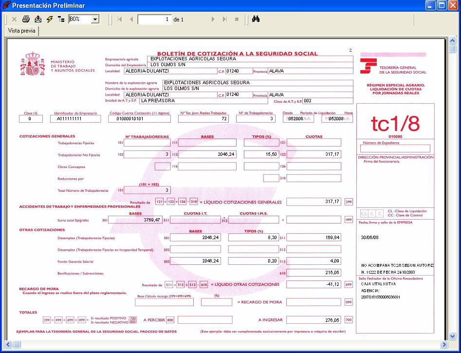 Confecci n tc1 8 sistema red for Impreso nomina