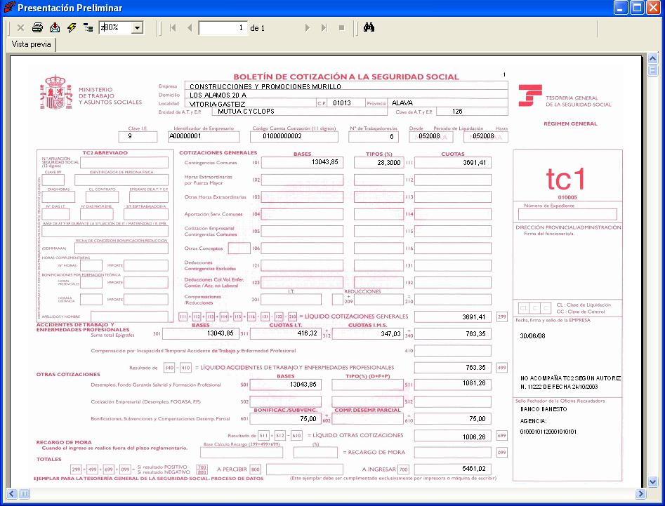 Confecci n tc1 sistema red for Impreso nomina